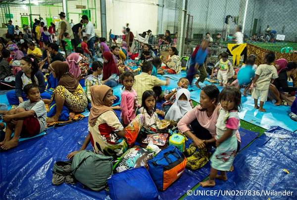 Emergency in Indonesia after the tsunami